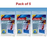 Vileda Magic Mop Flat Refill Pack of 5 - 096672 X 5