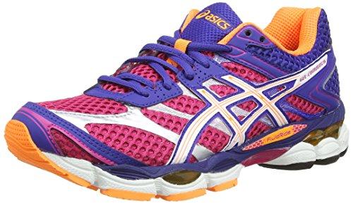 asics-gel-cumulus-16-womens-training-running-shoes-pink-hot-pink-white-deep-blue-2001-5-uk-38-eu