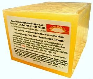 Handmade natural benchmark thyme soap loaf range no 10 anti viral
