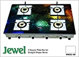 Gas Stove 4 Burner Auto Ignitions -Square Model-Jewel