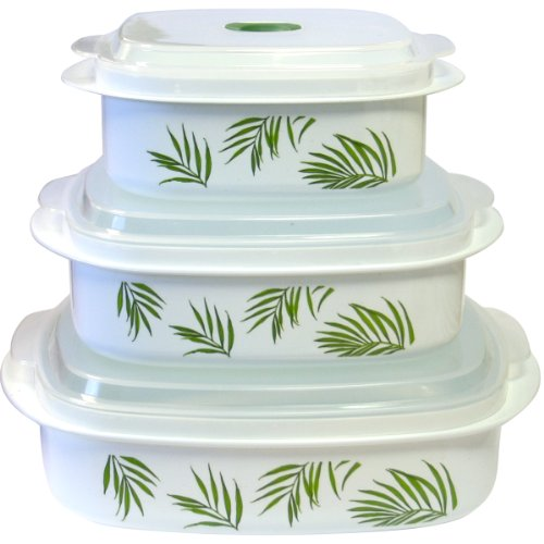 Corelle Coordinates Bamboo Leaf 6-Piece Microwave Cookware Set