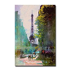 Paris Street by John Rivera Premium Oversize Gallery-Wrapped Canvas Giclee Art (Ready-to-Hang)