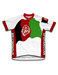 Afghanistan Flag Short Sleeve Cycling Jersey for Women