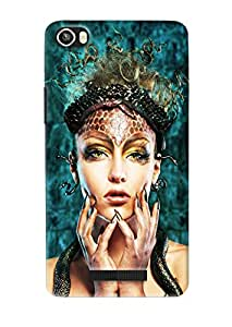 Omnam Girl With Makeup Effect Printed Designer Back Cover Case For Lava Iris 8x
