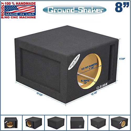 8 single vented slot ported sub box tuned 37hz for L ported sub box design