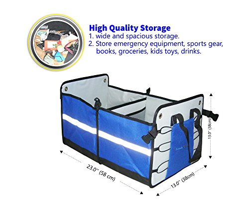 Best Quality Premium Collapsible Car Trunk Organizer or Storage By Friends Forever.Sturdy Construction,Heavy and Durable Duty solution.Great For SUV, Vans, Cars, Trucks,Minivan,Home. (Ski Organizer For Car compare prices)
