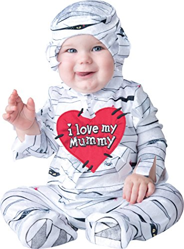 InCharacter Costumes Baby's I Love My Mummy Costume, White, Large