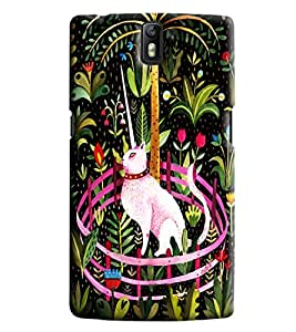 Blue Throat Rat In A Forest Printed Designer Back Cover/Case For OnePlus 1