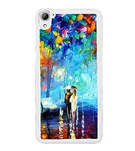 Bright Multi Colour Painting 2D Hard Polycarbonate Designer Back Case Cover for HTC Desire 826 Dual Sim