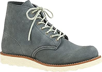 """Red Wing Men's 6"""" Classic Round,Slate Blue Leather,US 4 D"""