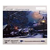 限定 ウィンターパッケージ 水彩色鉛筆セット karat aquarell【24色】カラト 125M