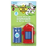 Bags on Board Red Hydrant Dispenser with 30 Refill Bags