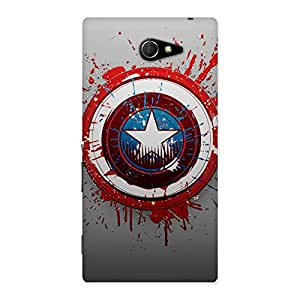 Delighted Premier Blood Round Multicolor Back Case Cover for Sony Xperia M2