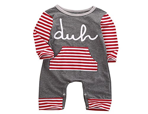 2016 Newborn Infant Kids Boys Girls Winter Romper - SUPPION Fashion Baby (6-12M, Red)