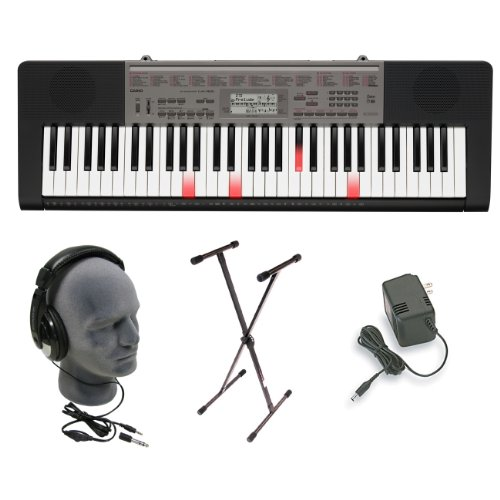 Casio Lk165 Lighted Key Premium Keyboard Pack With Headphones, Power Supply, And Stand