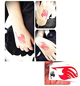 Anime Cosplay Fairy Tail Natsu Dragnee Logo Temporary Tattoo