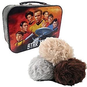 Ultimate Trekkie Fans Gift Set - Star Trek Animated Tribble & Tin Metal Tote