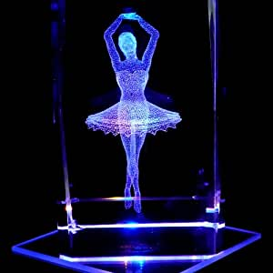 Amazon Com Ballerina S1 3d Laser Etched Crystal