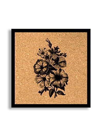 Vintage Begonias Framed Corkboard