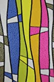 Hogar Static Decorative Privacy Smooth Geometric Stain Glass Window Film Mulit-Color 3 FT x 7 FT