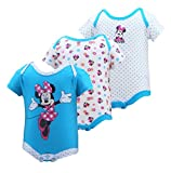 Disney Infant Girls Minnie Mouse Pink Bow 3 Piece Onsie Set