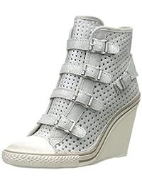 Ash Women's Thelma Star Fashion Sneaker,Silver,38 EU/8 M US