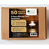 Bliss Of Earth™ 5 Hours Burning Smokeless Tealight Candles (Pack Of 50)