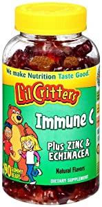 L'il Critters Immune C Plus Zinc and Echinacea Gummy Bears, 190-Count