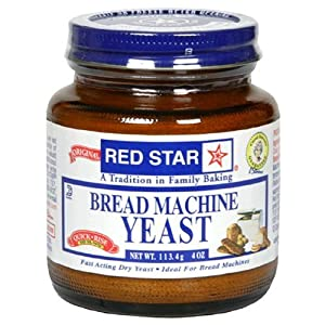 Red Star Bread Machine Yeast, 4oz Jar