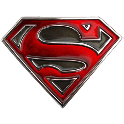 Superman Trans Logo Belt Buckle (Red)