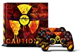PS4 Designer Skin for Sony PlayStation 4 Console System plus Two(2) Decals for: PS4 Dualshock Controller - Meltdown