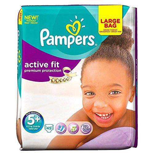 Pampers Active Fit Size 5+ Junior Plus 13-27Kg (45)