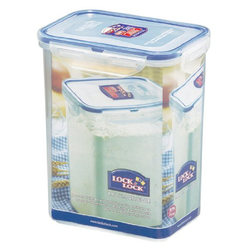 Lock&Lock 60-Fluid Ounce Rectangular Food Container, Tall, 7-1/2-Cup
