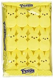 Marshmallow Peeps Yellow Easter Bunnies 12ct