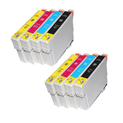 win-tinten 8 T1811-T1814 Kompatible Patrone als Ersatz für Epson Expression Home XP-305 XP-405 XP-205 XP-402 XP-202 XP-302 XP-102 XP-415 XP315 Drucker