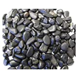 Exotic Pebbles PBS0510 Polished Gravel, Black, 5-Pound, 3/8-Inch