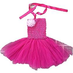 H B/elastico per bambino, primo compleanno, da ragazza, senza spalline 0991B abito con tutù rosa 19-24 months