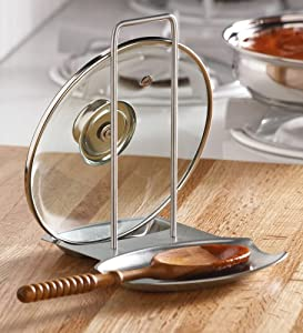 Collections Etc - Pot Lid Holder And Spoon Rest Combo By Collections Etc by