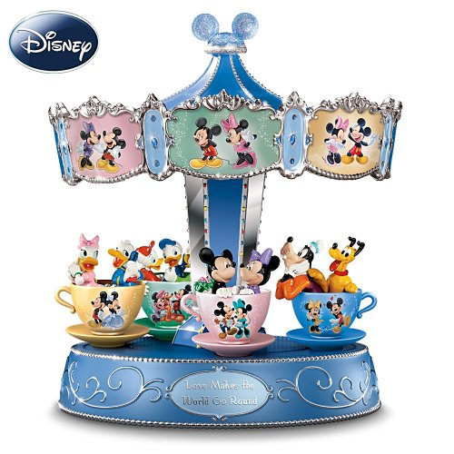 Disney Mickey Mouse And Friends Carousel Music Box: Love Makes The World Go 'Round by The Bradford Exchange
