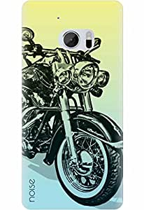 Noise Designer Printed Case / Cover for HTC 10 / Automobiles / Bike Rider
