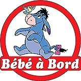 Stickersnews - Sticker autocollant enfant Bébé à bord Winnie Bouriquet réf 3570