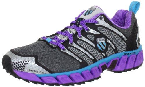 K-Swiss BLADE-MAX TRAIL~CHRCL/NEVLT/NEBLU~M Running Shoes Womens Gray Grau (Charcoal/Neon Violet/Neon Blue 071) Size: 6 (39.5 EU)
