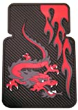Red Fire Dragon Universal-Fit Molded Front Floor Mat - Set of 2