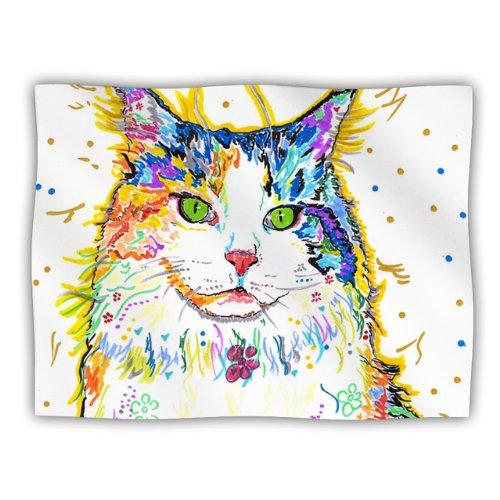 "Kess Inhouse Rebecca Fischer ""Royal"" Rainbow Cat Pet Dog Blanket, 60 By 50-Inch front-983665"