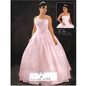 Araceli Quinceanera Ice Pink Size 16 Formal Evening Dress Debutante Prom Ball Gown