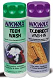Nikwax Tech Wash/Tx. Direct Twin Pack Clean/Proof Value Pack 300ml