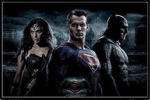 バットマン vs スーパーマン ジャスティスの誕生 ポスターフレームセット Batman V Superman (Trio)