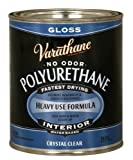 Rust-Oleum Varathane 200041H 1-Quart Interior Crystal Clear Water-Based Poleurethane, Gloss Finish