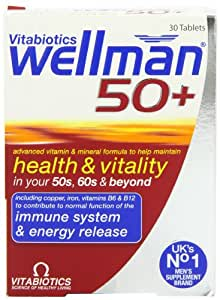 Vitabiotics Wellman 50+ Advanced Vitamin and Mineral Supplement  30 Tablets
