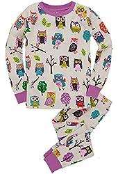 Hatley Big Girls Pajama Set-party Owls, Size 6